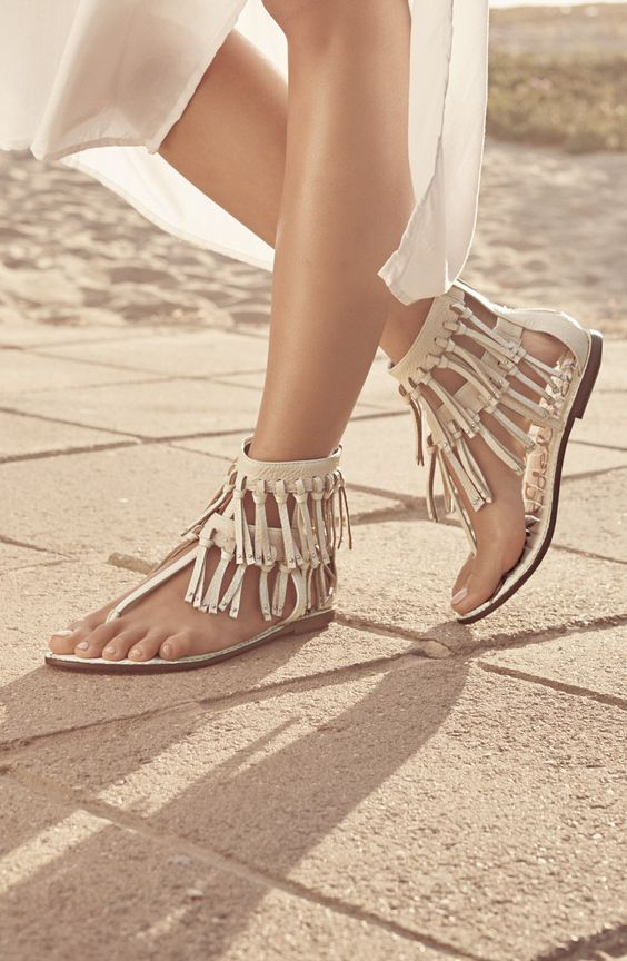 Fringe Sandals