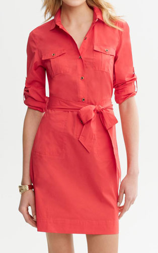 Mom_Pink Shirt Dress