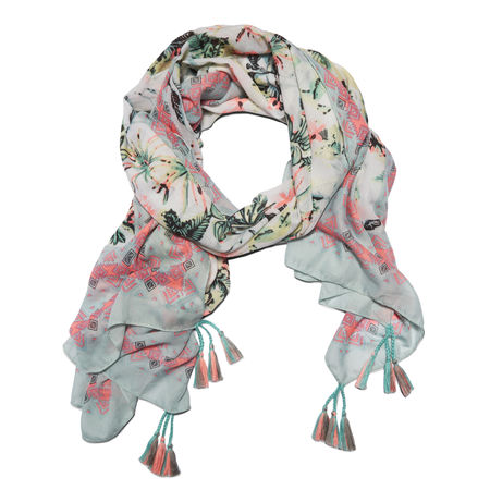 Tanger Outlets_floral print scarf