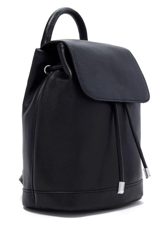 Tanger Outlets Forever 21 black leather backpack