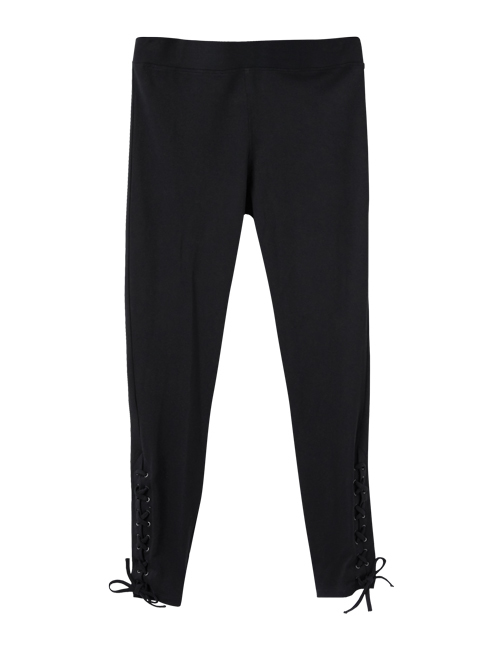 Tanger Outlets Express Factory Outlet side tie black legging