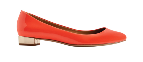 Tanger Outlets J.Crew Factory mirror heel red flat