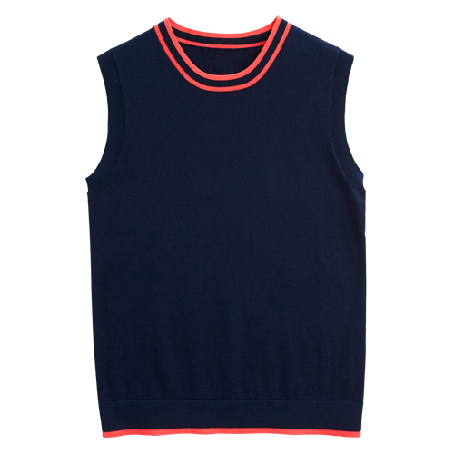 Tanger Outlets J.Crew Factory navy and coral shell tank