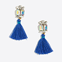 Tanger Outlets blue tassel earrings
